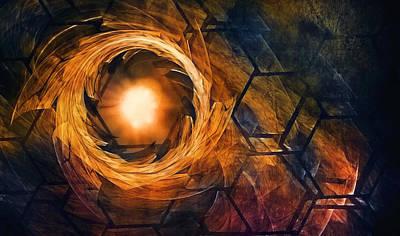 Vortex Of Fire Poster by Scott Norris