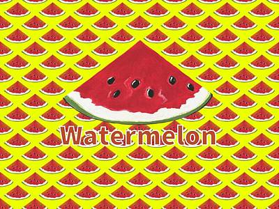 W Is For Watermelon Poster by Kathleen Sartoris