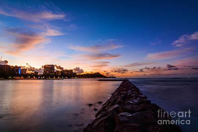 Waikiki At Sunrise Poster by Kristin Yata