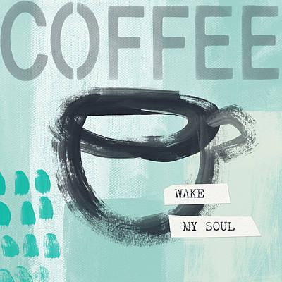 Wake My Soul Blue- Art By Linda Woods Poster by Linda Woods