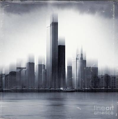 Rotterdam Skyline Poster by Dirk Wuestenhagen