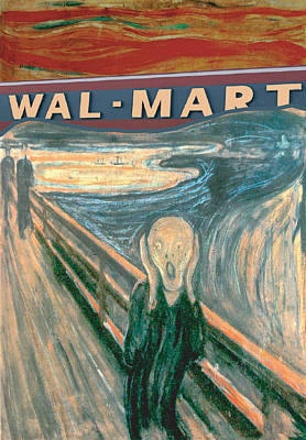 Wal-mart Scream Poster by Ricardo Levins Morales