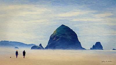 Walk On The Beach Poster by Jeff Kolker