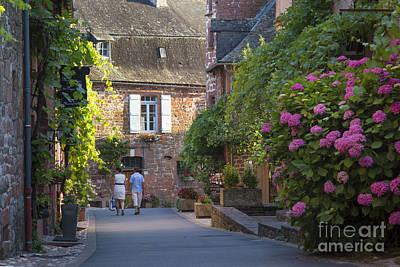 Walk Through Collonges-la-rouge Poster by Brian Jannsen
