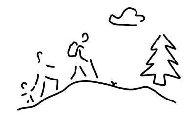 Walk Walking Wandering Poster by Lineamentum