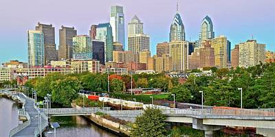 Walking Path To Philadelphia Poster by Frozen in Time Fine Art Photography
