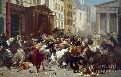 Wall Street: Bears & Bulls Poster by Granger