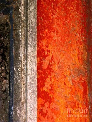 Wall With Red By Michael Fitzpatrick Poster by Mexicolors Art Photography