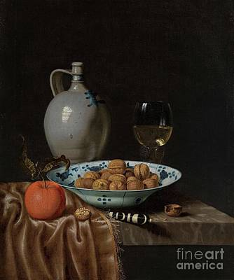Walnuts In A Wanli Porcelain Bowl  Poster by MotionAge Designs