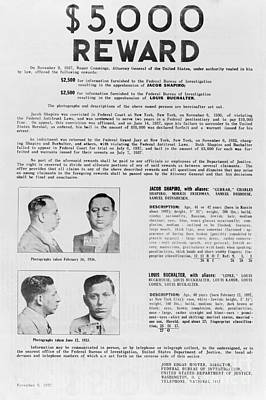Wanted Poster, 1937 Poster by Granger