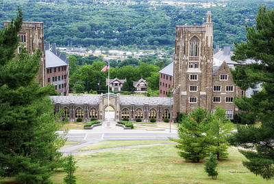 War Memorial Lyon Hall Cornell University Ithaca New York 01 Poster by Thomas Woolworth