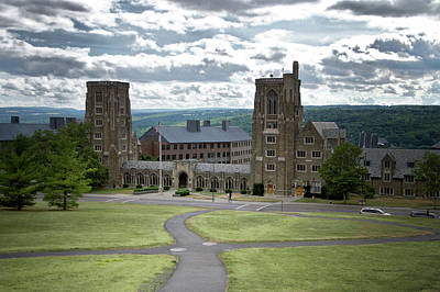 War Memorial Lyon Hall Cornell University Ithaca New York 02 Poster by Thomas Woolworth
