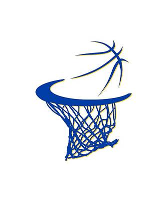 Warriors Basketball Hoop Poster by Joe Hamilton