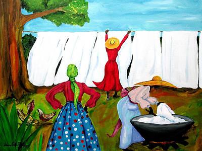 Wash Day Poster by Diane Britton Dunham