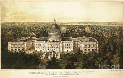 Washington City 1857 Poster by Jon Neidert