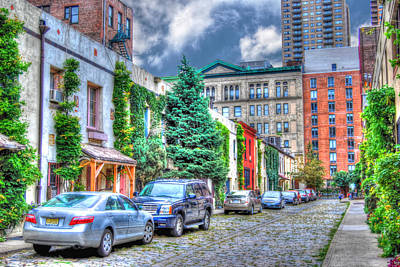 Washington Mews Facing East Poster by Randy Aveille