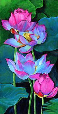 Water Lilies Poster by Debbie Brown