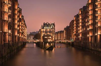watercastle Hamburg Poster by Silke Tuexen