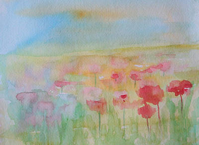 Watercolor Poppies Poster by Julie Lueders