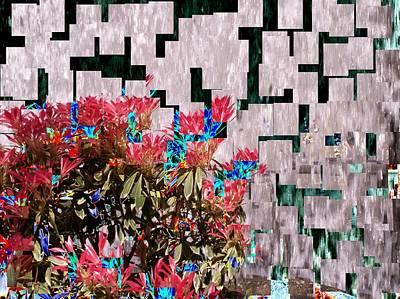 Waterfall Flowers 2 Poster by Tim Allen