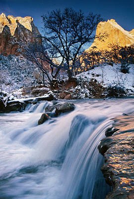 Waterfall Over Rocks Poster by Panoramic Images