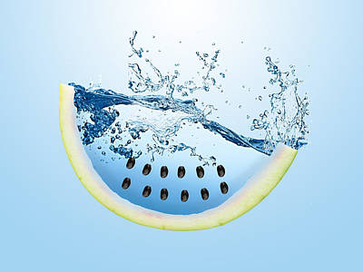 Watermelon Splash Poster by Marvin Blaine
