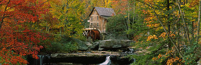 Watermill In A Forest, Glade Creek Poster by Panoramic Images