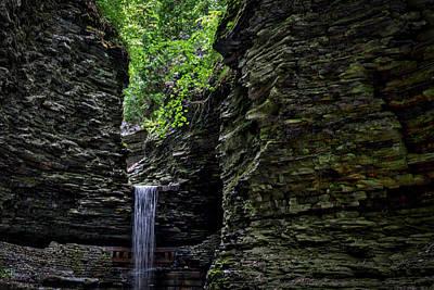 Watkins Glen Cavern Cascade Waterfall #2 Poster by Stuart Litoff