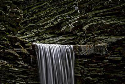 Watkins Glen Cavern Cascade Waterfall Poster by Stuart Litoff