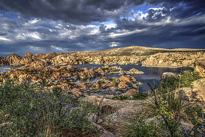 Watson Lake Afternoon Poster by Frank Cuva