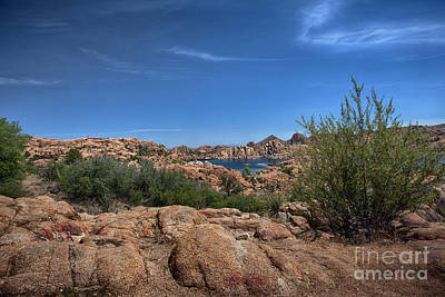 Watson Lake And The Granite Dells Poster by Anne Rodkin