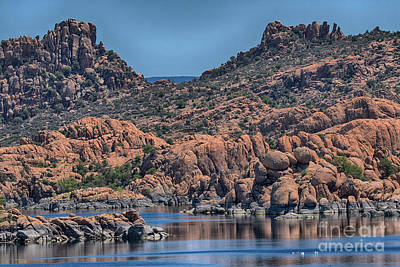Watson Lake And The Granite Dells II Poster by Anne Rodkin