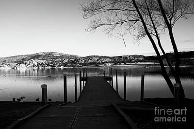 Watson Lake Black And White Poster by Robert Minkler