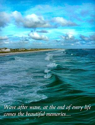 Wave After Wave Poster by Julie Dant
