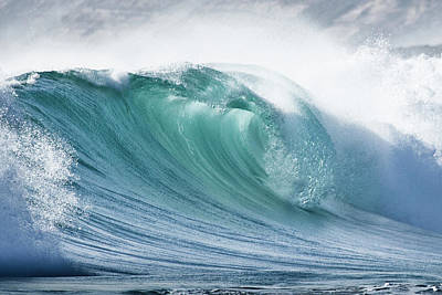 Wave In Pristine Ocean Poster by John White Photos