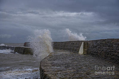 Waves Over The Cobb Poster by Chris Thaxter