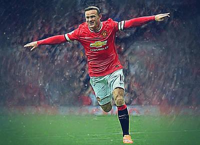 Wayne Rooney Poster by Semih Yurdabak