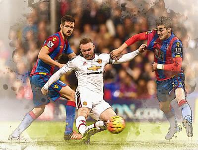 Wayne Rooney Shoots At Goal Poster by Don Kuing
