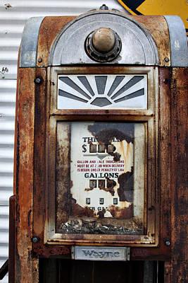 Wayne's Gas Pump Poster by Toni Hopper