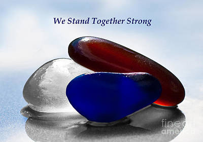 We Stand Together Strong Around The World Poster by Barbara McMahon