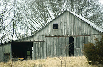 Weathered Barn In Winter Poster by Cricket Hackmann