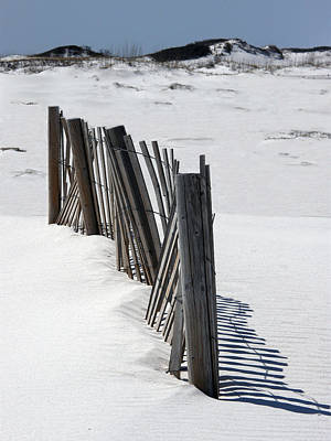 Weathered Fence On Destin Sand Dunes  Poster by Deb JAZI Raulerson