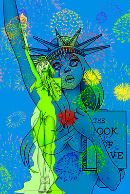 Weeping Liberty Poster by Lynn Rider