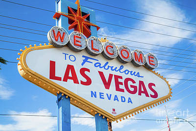 Welcome To Fabulous Las Vegas Sign Poster by Martin Williams