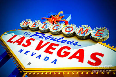 Welcome To Las Vegas Sign Poster by Amy Cicconi