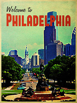 Welcome To Philadelphia Poster by Flo Karp