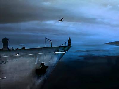 West Across The Ocean Poster by Joachim G Pinkawa