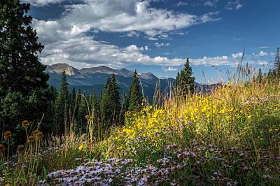 West Elk Mountain Range Poster by Michael J Bauer