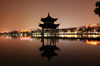 West Lake Hangzhou Poster by Krzysztof Baranowski