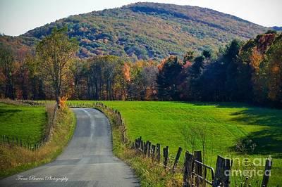 West Virginia Autum On Sandy Ridge Poster by Teena Bowers